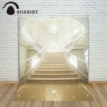 6.5x10ft Allenjoy photography backdrops European stairs Palace lights wedding background photography for baby studio custom size