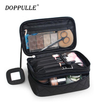 DOPPULLE Cosmetic Bags Makeup Bag Women Travel Organizer Professional Storage Brush Necessaries Make Up Case Beauty Toiletry Bag(China)