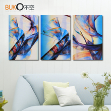 3 Panel Blue and red abstract Canvas Painting Modern Paintings monopoly art quadros modular pictures image Wall Art Image Prints