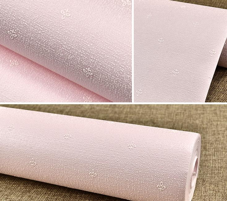 Solid Elegant Pink  Wall Paper Small Floral Baby Kids Girl Room Decor Bedding Room Warm<br>