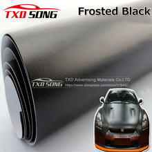 Matt Frosted Black Vinyl Car Decal Wrap Sticker Black Matt Film Wrap Retail For HOOD Roof Motorcycle Scooter for car wrapping