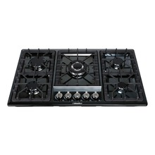 "34"" Black Titanium Stainless Steel 5 Burner Built-In Stoves Gas Cooktop Cooker"