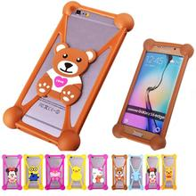 For Micromax Q380 Canvas Spark Silicon Minions Cell Phone Cases Rubber Minnie Garfield 3D Case Cover For Micromax Q380 Canvas