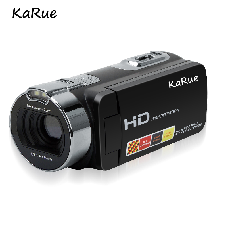 KaRue New 1080P HD 16x Digital Zoom Digital Video Camera Camcorder with 3.0 inch LCD Screen Max.24MP Support Face Detection 1