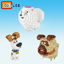 LOZ Diamond Block DIY Dog action figure Building Brick Model Birthday Gifts Present Toys for children sheep Animal(China)