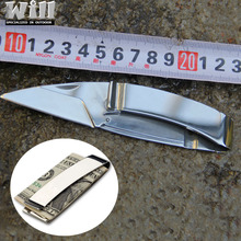 EDC Camping Brand Wallet Stainless steel Money Clip knife folding knife outdoor multi-functional portable gift knife GS-0052(China)