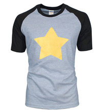 hot sale STEVEN UNIVERSE STAR t shirt 2017 new summer 100% cotton high quality raglan men t-shirt fashion short sleeve shirts(China)