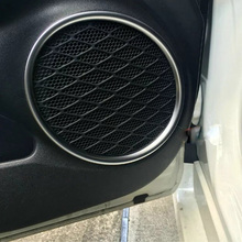 Fit For Toyota Prius 2016 2017 ABS Matte Inside Door Audio Speaker Sound Decoration Cover Ring Interior Mouldings Car Styling