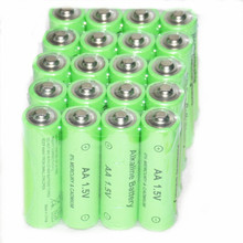 New 20pcs/lot aa batteries 1500mah 1.5V alkaline rechargeable battery with Good Packgae Quality batery for MP3 Toy cameras Free