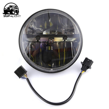 auto accessory 2pcs/set 7 inch H4 H/L 30W round led driving hi/lo beam car led head lamp for jeep wrangler defender 90