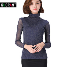 Buy Blouse Women Tops 2016 long Sleeve Women Shirt hollow Plus Size Casual Women Clothing Lady turtleneck Blouses Blusas for $11.44 in AliExpress store