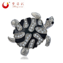 New Fashion jewelry Black Cute Turtles Brooch Bouquet For Women Cheap Broche Pins Wedding Casamento Souvenir Crystal brooches(China)