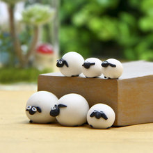 3pcs Cute Miniature Sheep Family Garden Fairy Ornament Figurine Plant Pot Bonsai #79742(China)