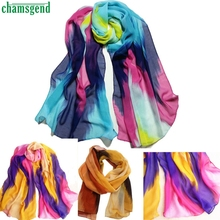 Trendy Style 2016 Best Deal High Qulity Fashion  Women Chinese Ink Style Wrap Lady Shawl Chiffon Scarf Scarves