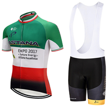 NewITALIA ASTANA cycling team jersey bike shorts Set quick dry MTB Ropa Ciclismo PRO cycling WEAR mens BICYCLING Maillot Culotte