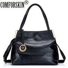 COMFORSKIN Brand Women Shoulder Bags Premium Cow Leather Designer Female Messenger Bags Large Capacity Ladies Casual Tote 2017(China)