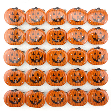 Hot 5Pcs Children  LED Flashing Light Up Brooch Halloween Decoration Pumpkin Skull Kids Toys Party Games Glowing Fun Gifts 2016