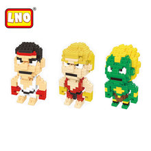 LNO nano blocks manufacturer small plastic building bricks miniature action toys ABS cartoon model diy educational toy for kids.