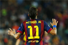Neymar Poster Neymar JR Posters World Cup Wall Sticker Soccer Ball Wallpapers Canvas Prints Barcelona Football Stickers #1991#(China)