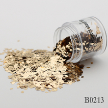 2017 diamond False Nails Toes decorative sequins DIY champagne Shine metal mirror texture 3D Slice canned 2mm B0213