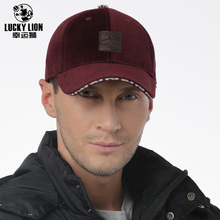 Whole Sale 1pcs/bag New Middle Aged Men Fall And Winter Woolen Hat Outdoor Leisure Warm Baseball Cap(China)