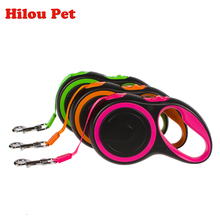 New Colorful ABS High-Grade Stable Durable 5 Meter Automatic Retractable Dog Traction Rope Leashes Pet Leads(China)