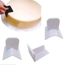 New Cake Smoother Polisher Round Edge Rectangular Cake Fondant Surface Polisher Cake Decor Curve Edger Smoother Spatulas
