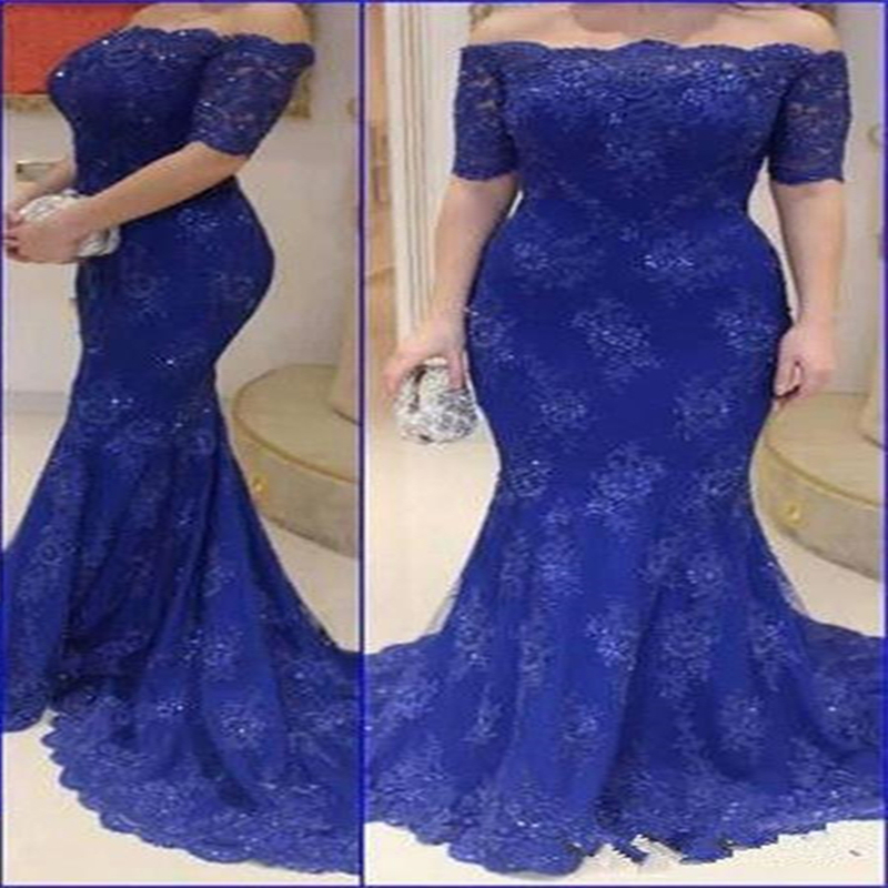 Royal-Blue-Long-Lace-Evening-Dress-Mermaid-Gown-2015-Elegant-Sexy-Half-Sleeve-Beaded-Backless-Motherww