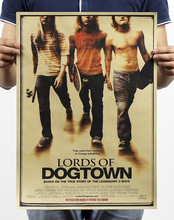 Slide Film Kraft Paper Lord Of Dogtown Poster In Wall Stickers Movie Map Christmas Home Decoration Accessories Gift(China)