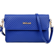 Hot Selling Women Flap Shoulder Bags Classical Fashion Diamond Lattice Pattern Tote Ladies Shoulder Messenger Bag Blue ST305