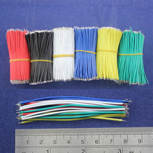 Free Shipping 50pcs pcb solder cable 26AWG 7.8cm Fly jumper wire cable Tin Conductor wires color choose(China)