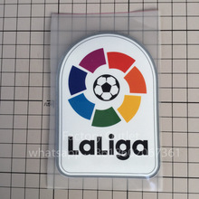 top quality Plastic and embroidery Big LFP patch, Embroidered La Liga Patch Soccer Patch Badges FVEEF Free Ship