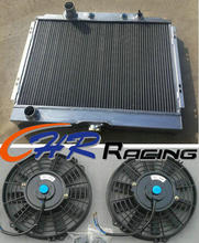 3 Row aluminum Radiator & fan*2 for 1968 1969 1967 Ford Mustang Fairlane/Ranchero new(China)