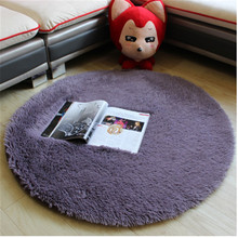 Plush Shaggy Soft Round Carpet Area Rugs Non-slip Floor Mats for Kids Living Room Home Decorative Rugs White Seat Pad B32(China)