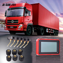 Super LCD TP900 Universal Car TRUCK TPMS Tire Pressure Monitoring System for 6 Wheels Bus Van with 6 External/Internal Sensors()