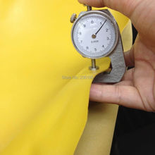 Smooth Yellow Genuine Goat Skin Leather Fabric 0.9-1.2mm for shoes/purse,Free Shipping