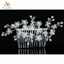 Bridesmaid Bridal Wedding Party Quality Handmade Flower Crystal Beads Hair Comb CT1387