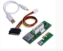 Mini PCI-E X1 extension cable to be powered PCIE 1X extended  expansion card 90 degree right angle