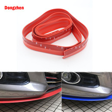 Dongzhen Car-Styling Universal Stickers Rubber Bumper Protection Strip Anti-collision Exterior Accessories Front Bumper Strip(China)