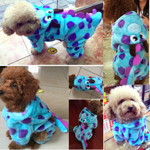 petcircle hot pet cat dog clothes in cold winter visual blue dragon dog coats dog parkas for yorkshire dog outfit freeshipping(China)