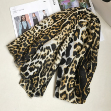 IANUS Leopard Scarf Women Unique Shawl Female Stylish Large Star Pashmina Classics 190x100 cm [080]