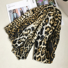 IANUS Leopard Scarf Women Unique Shawl Female Stylish Large Star Pashmina Classics 190x100 cm [080](China)