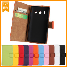 genuine Flip leather Wallet cover for Huawei Y300 Mobile phone Case with stents function and card Holder+Gift(China)