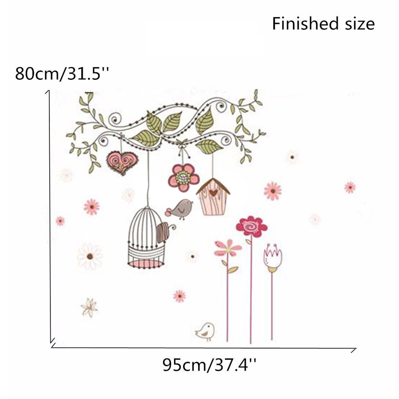 Cartoon Animal Tree Flower Wallpaper for Kids Rooms adesivo de parede Vintage Child Wall Sticker Home Decor Decoration Mayitr