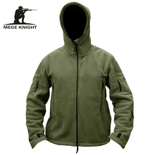 MEGE Brand Men military clothing tactical fleece jacket casual coat, hoody army outwear winter jacket men casacos(China)