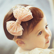 1PC Mini Lace Baby Flower Headband Chic Flower Head Bands Girls Headwear Hair Bow for Children Kids Hair Accessories H175(China)