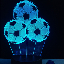 New Creative Football Balloon Night Light Sporting 3D LED USB Lamp RC Touch Remote Controller Colorful Gradient Visual Boy Gift(China)