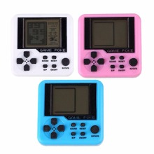 Colorful Built-in Games Mini Tetris Game Console Retr Matchbox Electronic Game Toy