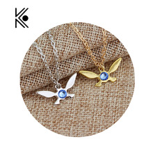 Cute Legend of Zelda Butterfly Charm Pendent Alloy Necklace Papillon Necklaces Gold Silver Plated Game Jewelry Gift For Fans