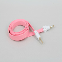 3.5mm male brought to the audio wire Color flat noodles AUX vehicle to record the line cell phone audio gold-plated